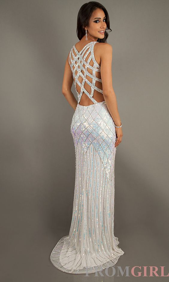 Long V-Neck Sequin Formal Dress by Primavera on Chiq $369.00 http ...