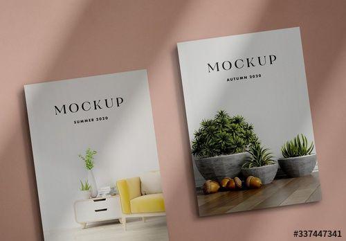 2 Realistic 3d Magazine Mockups In 2021 Magazine Mockup Magazine Mockup Psd Mockup
