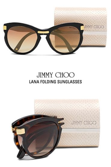 Jimmy Choo Eyewear Collection Presents Lana Folding Sunglasses | Choo Connection website Buy Similar Quality Eyewear from $6.95 from http://www.globaleyeglasses.com