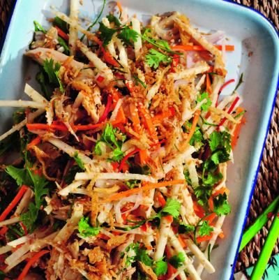 Chicken, Seasame and Jicama Salad (Gà Xè Phay) from Real Vietnamese Cooking by Tracey Lister and Andreas Pohl