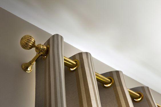 Klasik rustik perde-rustik perde modeli-gold rustik