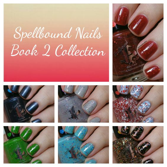 Painted Nubbs: Spellbound Nails Harry Potter Book 2 Collection Swatch and Review