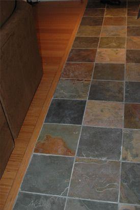 slate kitchen flooring i like the different colors - Tile Floors