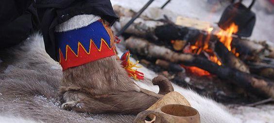 Skaller - traditional Sami winter shoes, Karasjok in Norway