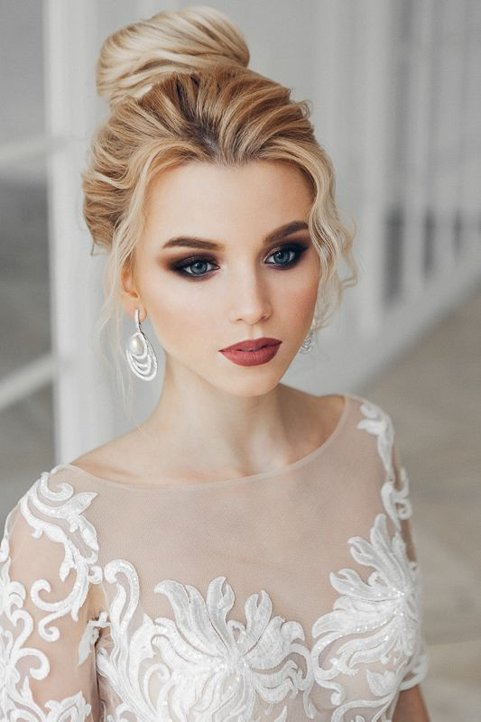 30 Stunning Natural Wedding Hairstyle For Bride Maquillage De