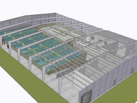 (1) 3D model animation tour of Virginia Shrimp Farms - YouTube