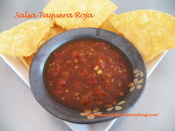 Salsa Taquera Roja with Homemade Tortilla Chips