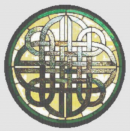 Cross Stitch Patterns - Stained Glass - CELTIC KNOT Stained Glass CROSS STITCH PATTERN CHART $$$