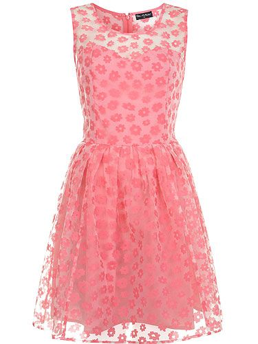 I want this dress!   'Floral Burn Out Prom Dress' from Miss Selfridge.  Source: cosmopolitan.co.uk