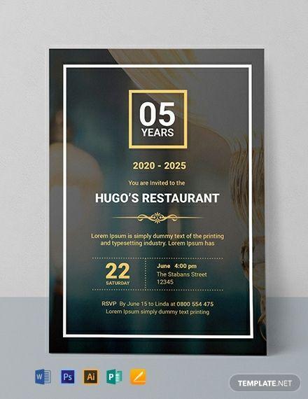 Restaurant Opening Invitation Template Free Jpg Illustrator Word Apple Pages Psd Publisher Template Net Corporate Invitation Design Digital Invitations Design Creative Invitation Design