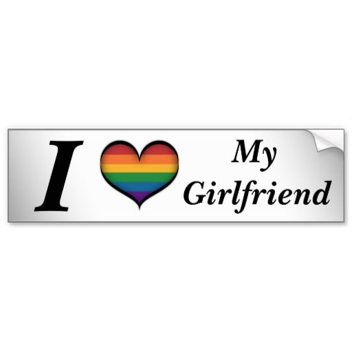 I Heart My Girlfriend Bumper Sticker Girlfriends And Lesbian Pride