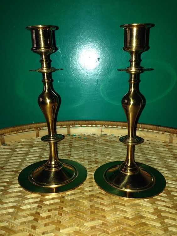 Swedish Malm Brass 2pcs.Candlesticks Sweden 1977 signed in Collectibles | eBay