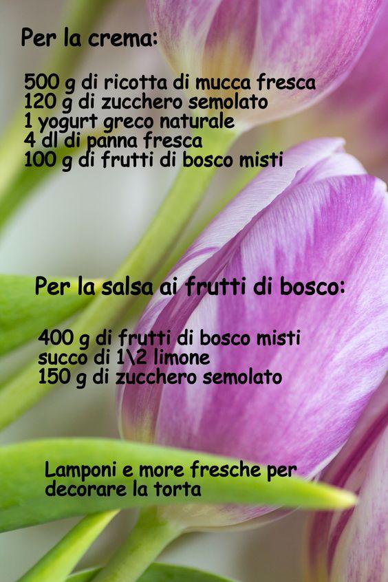 CHEESECAKE RICOTTA E FRUTTI DI BOSCO | Poesie di zucchero e farina