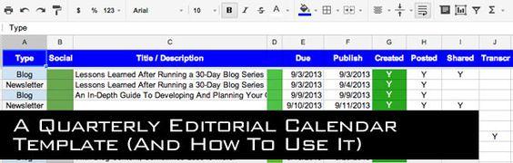 Quarterly Calendar Clipart   Marketing Calendar