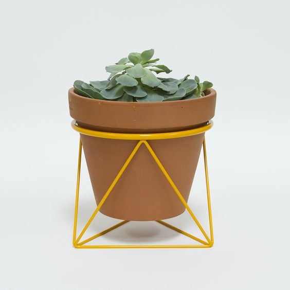 Planters rings and terra cotta on pinterest - Steel pot plant stands ...