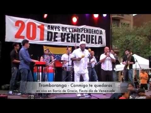 Tromboranga conmigo te quedaras Salsa en vivo en Barrio de Gracia, dia d...