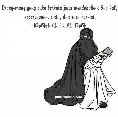 Gambar Kartun Muslimah Bercadar Berkata Jujur Kartun Gambar