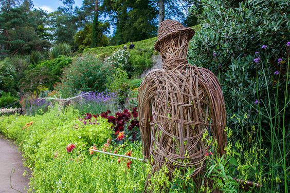 Wicker man at Inverewe Gardens, Scotland, by Bob Winning.