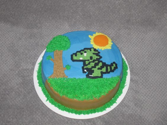 Pin By Jeremy Sailor On My Cakes Kids Themed Birthday Parties Terraria Cake Cake