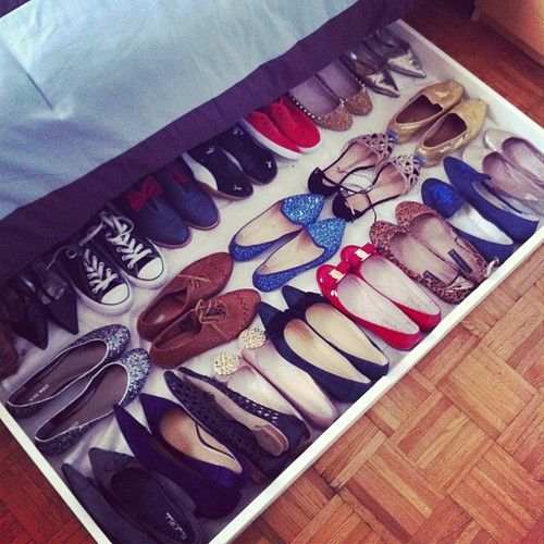 how i store my flats using a BEDDINGE  storage box from ikea. Such a good idea