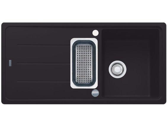 franke basis bfg 651 graphit granit sp le dunkelgrau k chensp le sp lbecken 60cm. Black Bedroom Furniture Sets. Home Design Ideas
