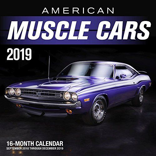 American Muscle Cars 2019 16 Month Calendar Includes September