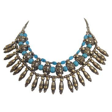 Howlite Metal Collar Necklace