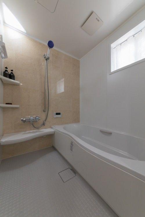 浴室はご主人の 足を伸ばして入れる浴槽を とのご希望でした そこで