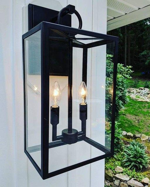 Manor Glass Iron Sconce Modern Farmhouse Lighting Exterior House Lights Outdoor Light Fixtures