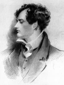 """Lord Byron: 'Mad, bad and dangerous to know.'  Member of the House of Lords, """"freedom fighter"""", rake, and excellent poet... interesting fellow!"""