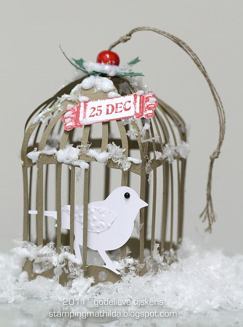 Tim Holtz Bird Cage 3D Tutorial by Godelieve Tijskens...