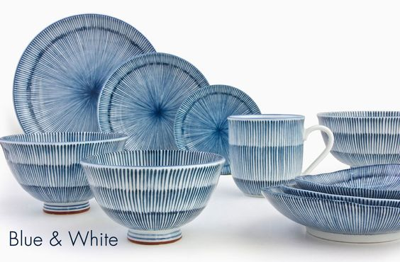 Hoso Tokusa Series brought to you by Miya Company.  www.miyacompany.com.  Bringing the Best of Japan Home.  #madeinjapan #blueandwhite