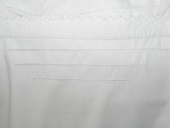 French Vintage-Original Vintage Camisole-Embroidery in White -Fine Stitches-French Cotton-The 25 Pounds Collection - Size Medium by LaVieEnNoirGallery on Etsy