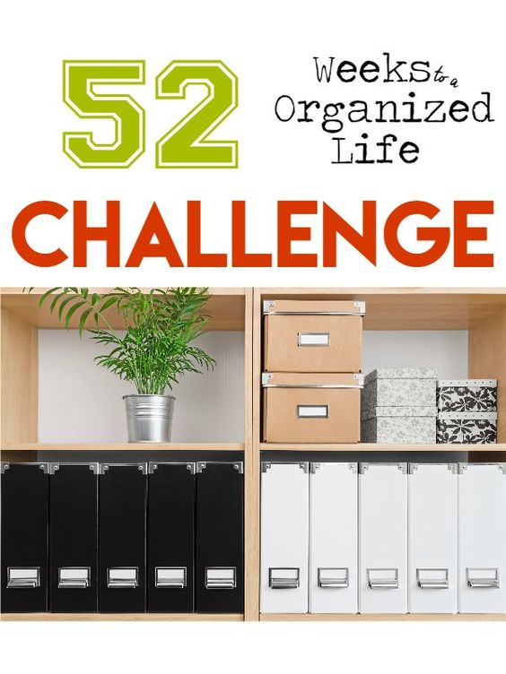 52 Weeks To A More Organized Home Life Clutter Small