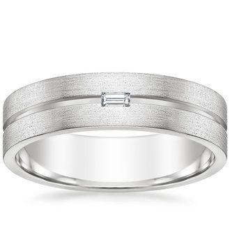 18k White Gold Ezra Diamond Wedding Ring Wedding Rings Diamond Wedding Rings Brilliant Earth Rings