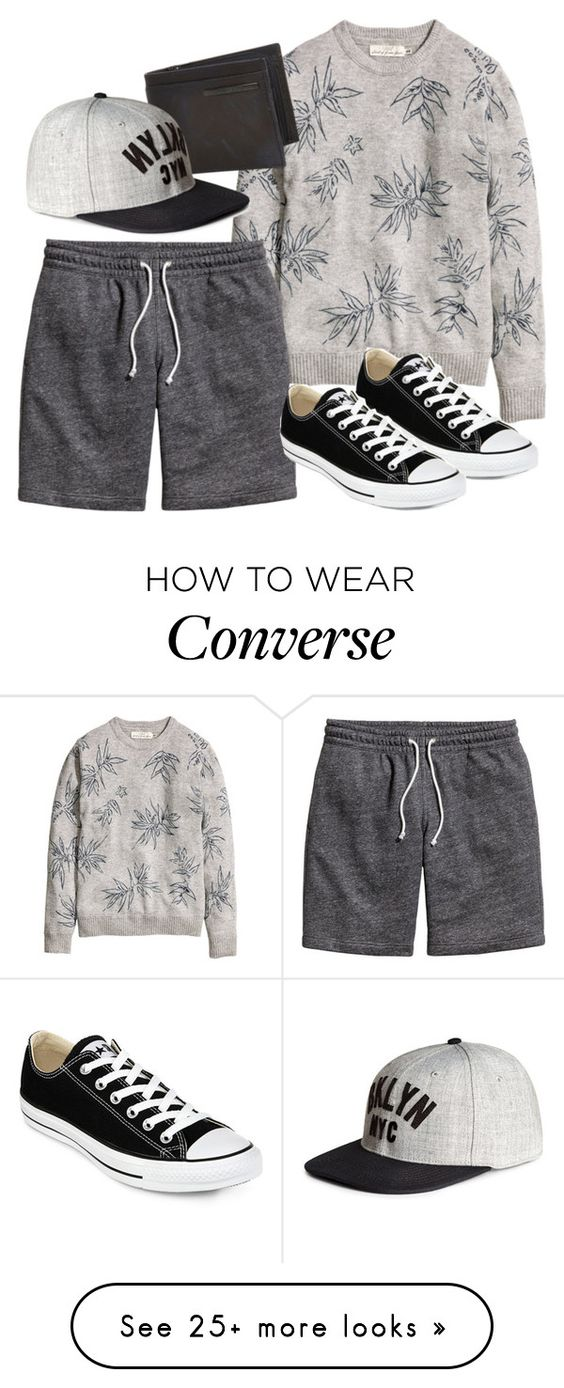 """Menswear"" by erinforde on Polyvore featuring River Island, Converse and menswear"