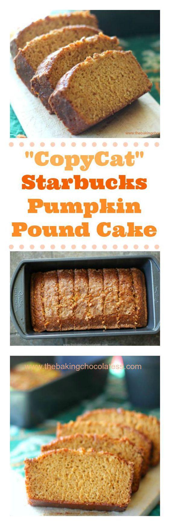 """CopyCat"" Starbucks Pumpkin Pound Cake"