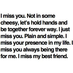 I miss you :'(