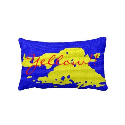 Yellow!! (eliso) almohada http://www.zazzle.com/yellow_eliso_almohada-189345644604059716?lang=es