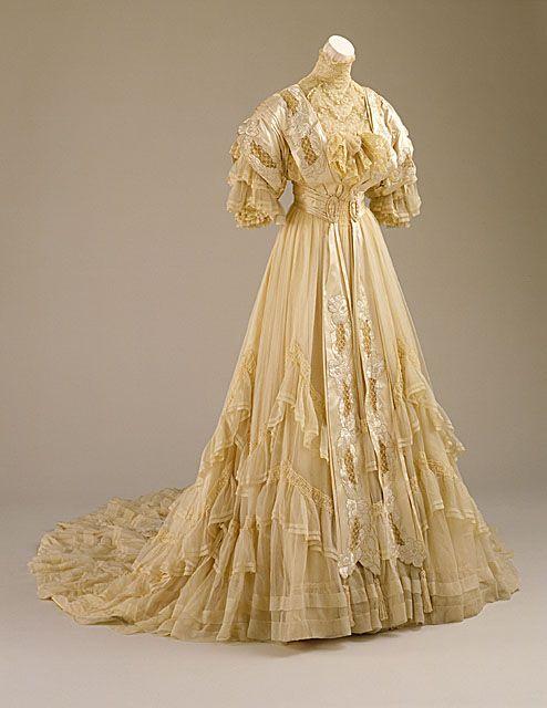 Wedding dress, 1894. LA County Museum of Art.