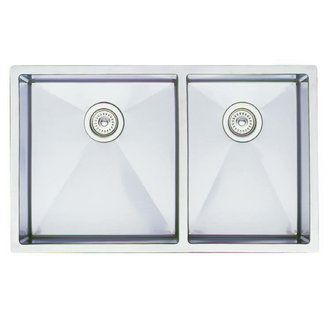 Blanco Overmount Sinks : Blanco 513688 Precision Double Basin Stainless Steel Kitchen Sink 20 ...
