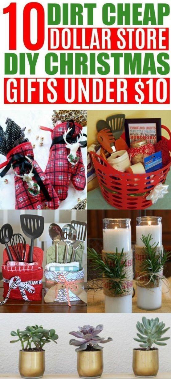 20 Diy Cheap Christmas Gift Ideas From The Dollar Store Under 10 Easy Diy Christmas Gifts Cheap Christmas Gifts Diy Christmas Gifts For Friends