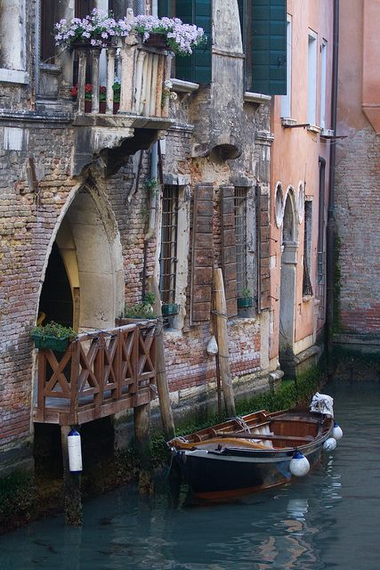 "Venice ~ Italy @Jasmine Lavender ""like an old lady wearing lipstick and rouge - decrepit but unabashedly glamorous"""