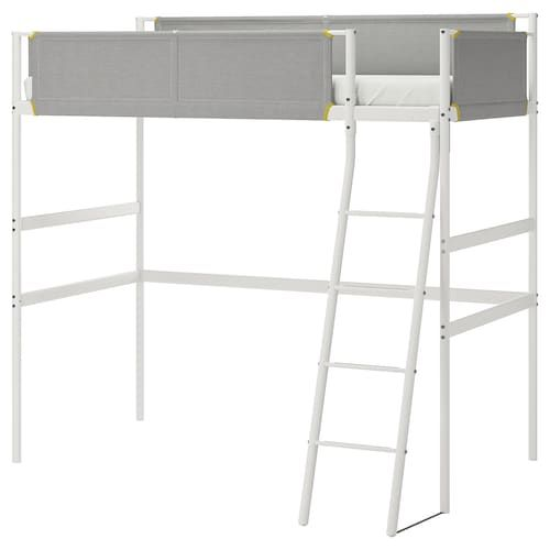 Stuva Fritids Loft Bed With 4 Drawers 2 Doors White White Ikea In 2020 Loft Bed Frame Loft Bed Stuva Loft Bed