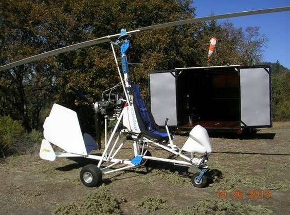 2002 Sport Copter Vortex Lightning Gyroplane & 16' Enclosed Trailer for sale in Willits, California