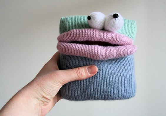 Knit your own SquareBellied Monsters pdf by ButterflyLove1 on Etsy, $3.00