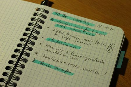 Notizen organisieren | Frau Ding Dongs Leben
