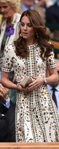 10 Jul 2016 - Duchess of Cambridge attends men's Wimbledon final. Click to read more: