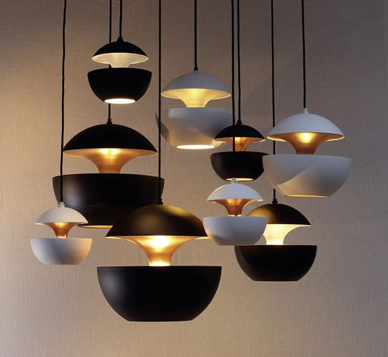 Aluminium pendant lamps: Here Comes the Sun by DCW éditions
