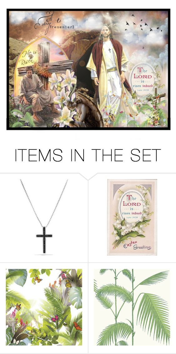 """He Is Risen"" by harrietthad ❤ liked on Polyvore featuring art and Collage"